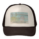 Serenity Prayer Old Chair and Flowers Hat