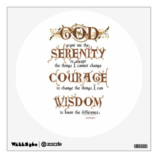 Serenity Prayer: Old English Antique, Recovery Wall Decal