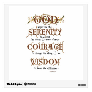Serenity Prayer: Old English Antique, Recovery Wall Sticker
