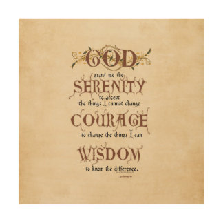 serenity prayer old english antique recovery wood wall decor