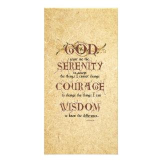 Serenity Prayer: Old English Antique, Strength/Rec Card