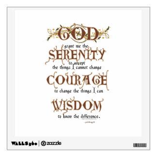 Serenity Prayer: Old English Antique, Strength/Rec Wall Sticker