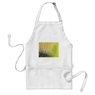 Serenity Prayer Old Fence Red Tulips Adult Apron