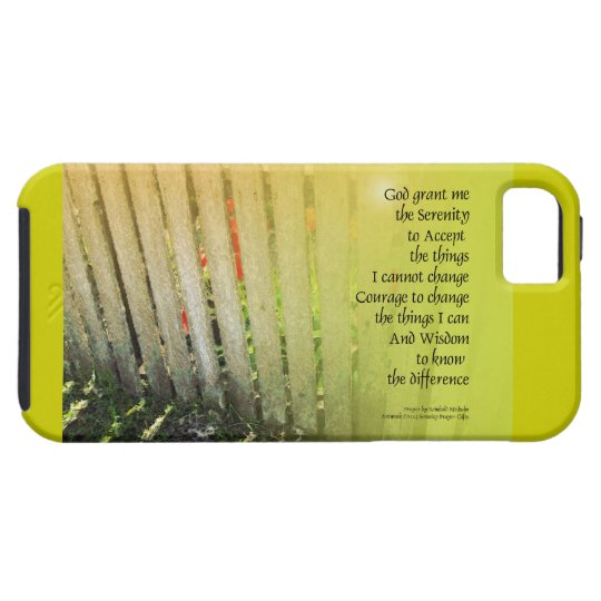 Serenity Prayer Old Fence Red Tulips iPhone SE/5/5s Case