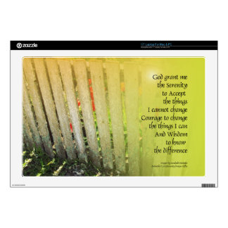 Serenity Prayer Old Fence Red Tulips Decal For Laptop