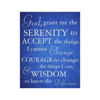 Serenity Prayer on Canvas Stretched Canvas Prints