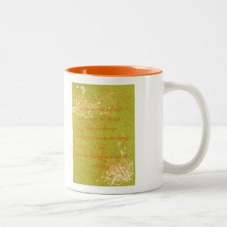 Serenity Prayer Orange and green Two-Tone Coffee Mug