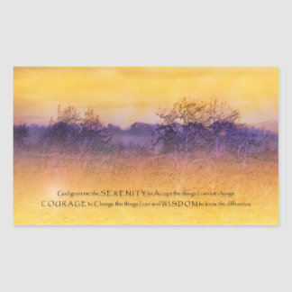 Serenity Prayer Orange and Purple Field Sticker