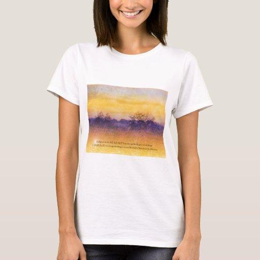 Serenity Prayer Orange and Purple Field T-Shirt