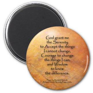 Serenity Prayer Orange Leaves Magnet