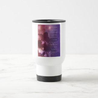 Serenity Prayer Orchids Red Violet Travel Mug
