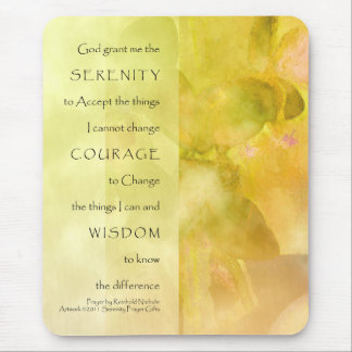 Serenity Prayer Orchids Yellow Green Mousepad