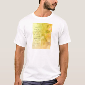 Serenity Prayer Orchids Yellow Green T-Shirt