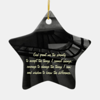 Serenity Prayer Double-Sided Star Ceramic Christmas Ornament