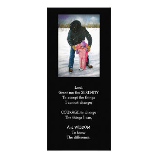 SERENITY PRAYER: Painting: cowboy and child skatin Rack Card