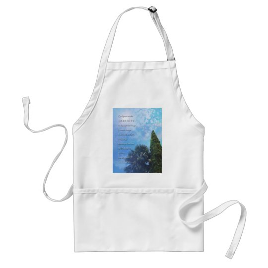 Serenity Prayer Palms and Juniper Adult Apron