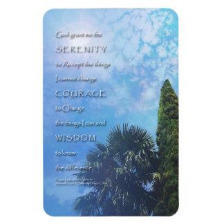 Serenity Prayer Palms and Juniper Rectangle Magnet