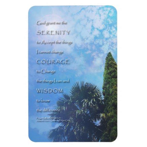 Serenity Prayer Palms and Juniper Rectangular Photo Magnet