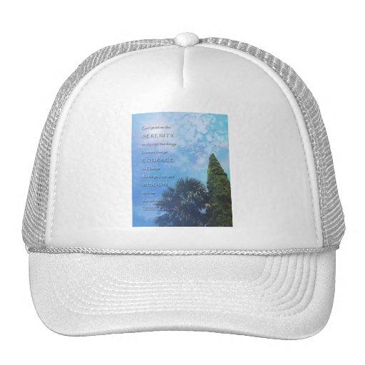 Serenity Prayer Palms and Juniper Trucker Hats