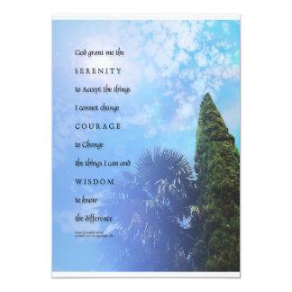 """Serenity Prayer Palms & Juniper Invitation 5"""" X 7"""" Invitation Card"""