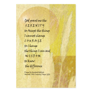 Serenity Prayer Pampas Large Business Cards (Pack Of 100)
