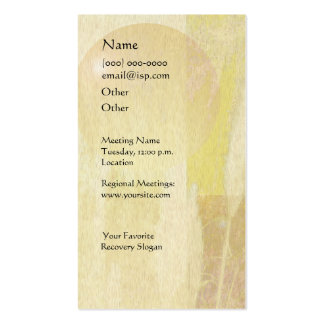Serenity Prayer Pampas Double-Sided Standard Business Cards (Pack Of 100)