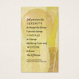 Serenity Prayer Pampas Business Card