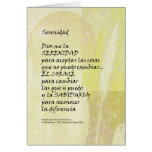 Serenity Prayer Pampas in Spanish Greeting Card