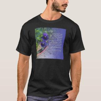 Serenity Prayer Pansy Blue T-Shirt