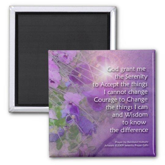 Serenity Prayer Pansy Magnet
