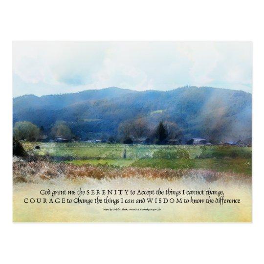 Serenity Prayer Pastures Postcard