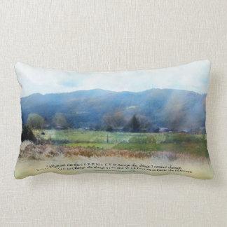 Serenity Prayer Pastures Throw Pillows