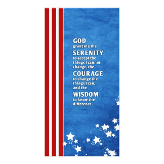 Serenity Prayer: Patriotic USA, Strength/Recovery Card