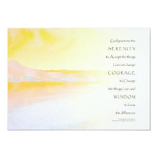 "Serenity Prayer Peaceful Lake 5"" X 7"" Invitation Card"