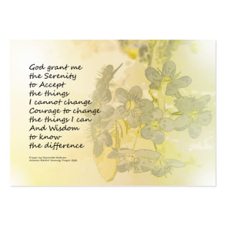 Serenity Prayer Pear Blossoms One Large Business Cards (Pack Of 100)