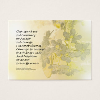 Serenity Prayer Pear Blossoms One Business Card