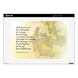 Serenity Prayer Pear Blossoms One Laptop Decal
