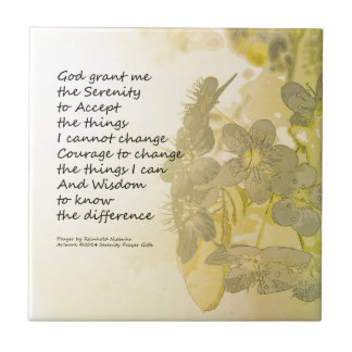 Serenity Prayer Pear Blossoms Two Ceramic Tiles