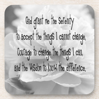 Serenity Prayer Peony Coaster