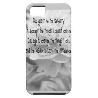 Serenity Prayer Peony iPhone SE/5/5s Case