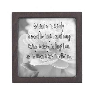 Serenity Prayer Peony Keepsake Box