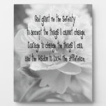 Serenity Prayer Peony Photo Plaque