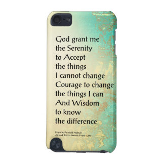 Serenity Prayer Peony Yellow Turquoise iPod Touch 5G Cover