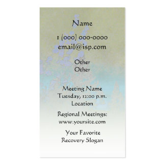 Serenity Prayer Petals and Trees Business Card Template