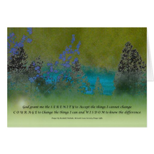 Serenity Prayer Petals and Trees Cards
