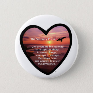 Serenity Prayer Pinback Button