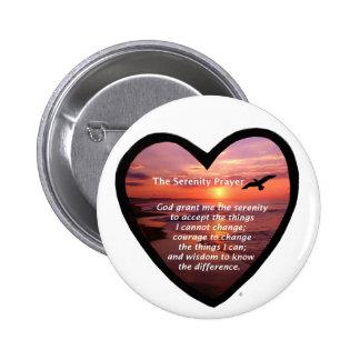 Serenity Prayer Pinback Button