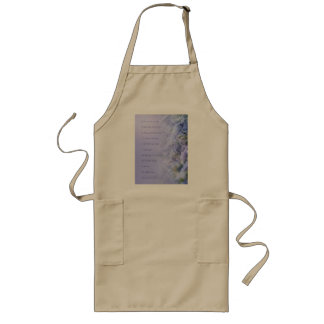 Serenity Prayer Pine Branches and Snow Long Apron