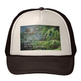 Serenity Prayer Pines 2 Trucker Hats