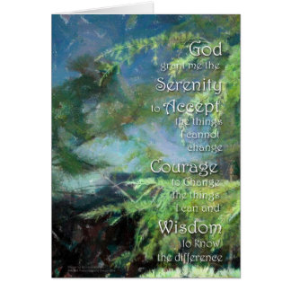 Serenity Prayer Pines Card